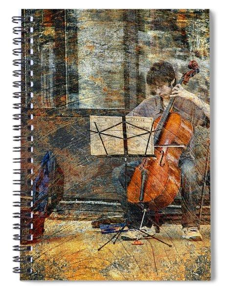 Sidewalk Cellist Spiral Notebook