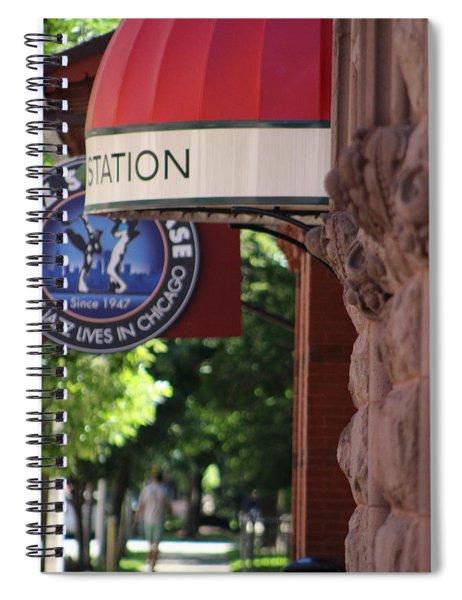 Sidewalk View Jazz Station  Spiral Notebook