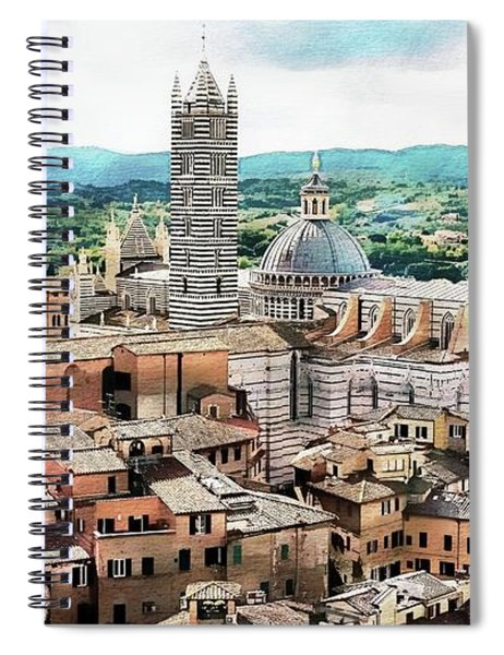 Siena Duomo From The Torre Del Mangia Spiral Notebook