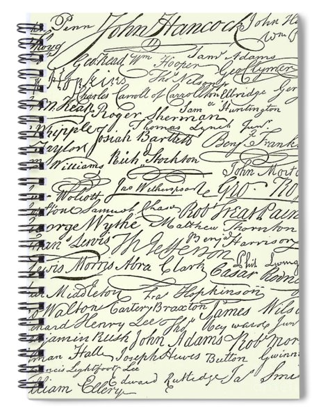 Signatures To The Declaration Of Independence Spiral Notebook