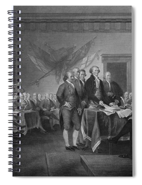Signing The Declaration Of Independence Spiral Notebook by War Is Hell Store