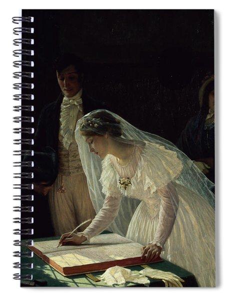 Signing The Register Spiral Notebook