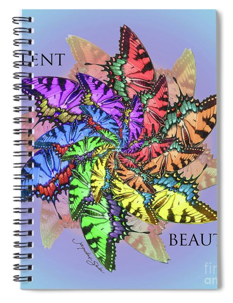 Silent Beauty Spiral Notebook