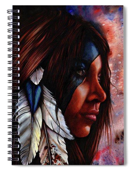 Silent Grace Spiral Notebook
