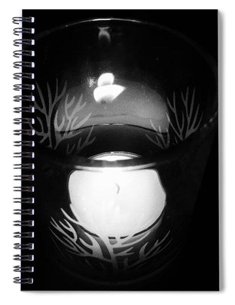 Silent Night Light Spiral Notebook