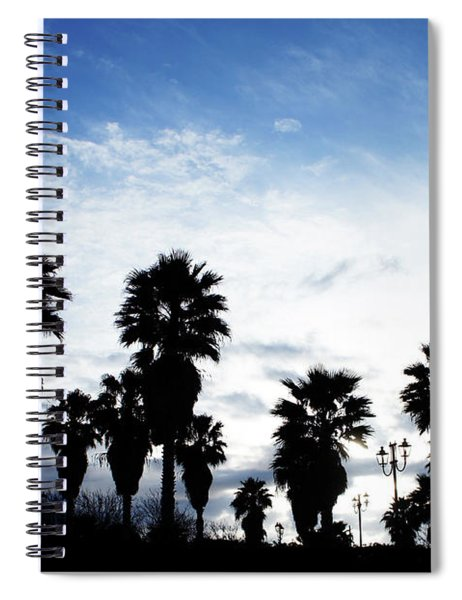 Silhouette In Tropea Spiral Notebook