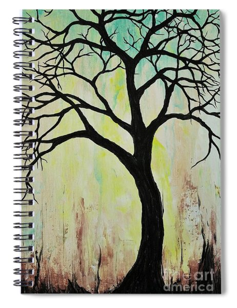 Silhouette Tree 2018 Spiral Notebook