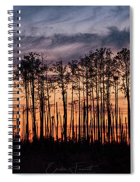 Silhouetted Sunset Spiral Notebook