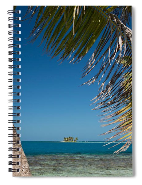 Silk Caye Island With Palm Trees Spiral Notebook