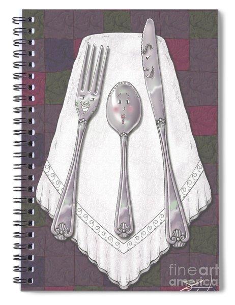 Silly Silverware Spiral Notebook