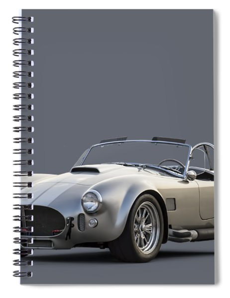 Silver Ac Cobra Spiral Notebook