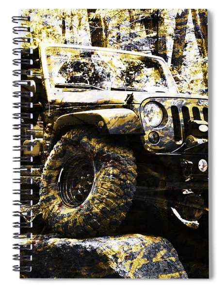 Silver And Gold Jeep Wrangler Jku Spiral Notebook