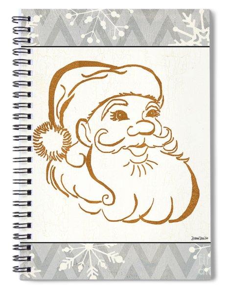 Silver And Gold Santa Spiral Notebook