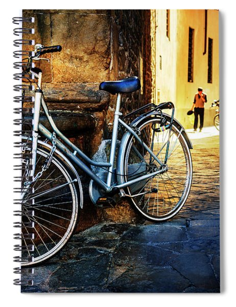 Silver Bicycle Of Florence Spiral Notebook