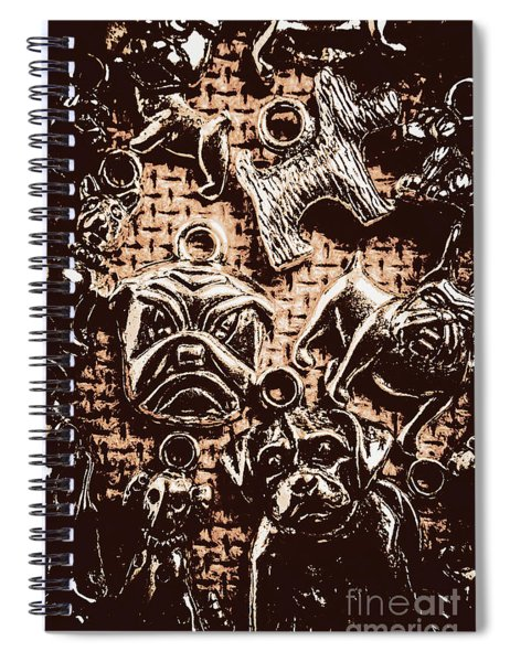 Silver Dog Show Spiral Notebook