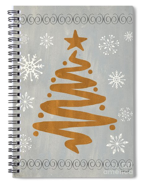 Silver Gold Tree Spiral Notebook