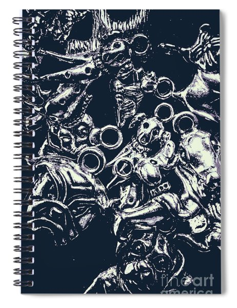 Silver Hounds Spiral Notebook