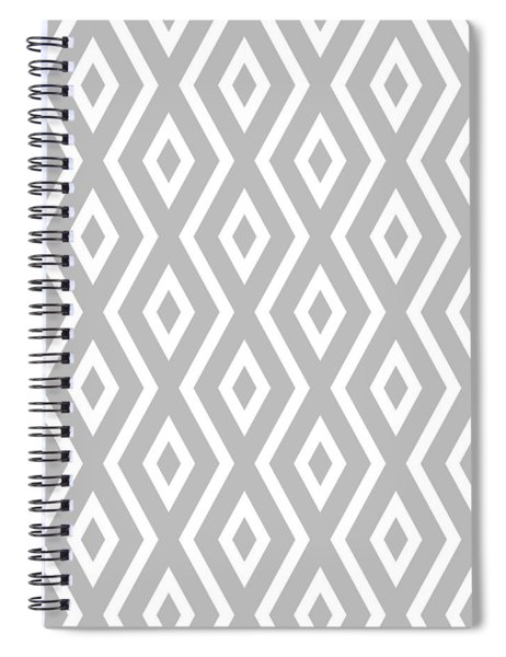 Silver Pattern Spiral Notebook by Christina Rollo
