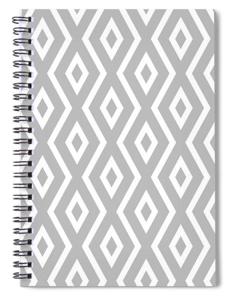 Silver Pattern Spiral Notebook