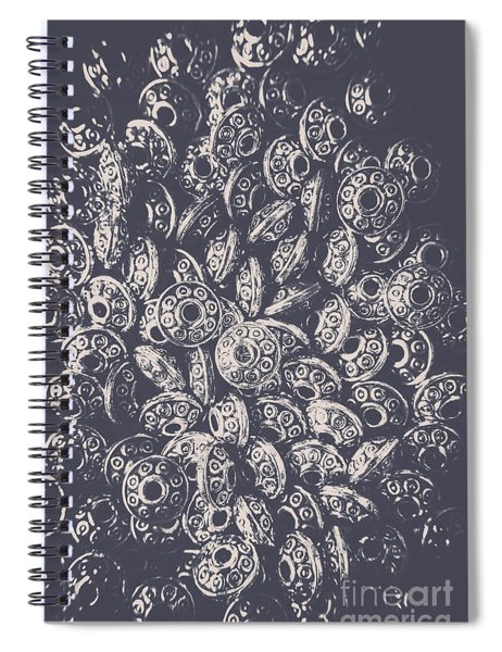 Silver Saucers From Outer Space Spiral Notebook