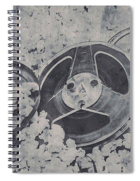 Silver Screen Film Noir Spiral Notebook
