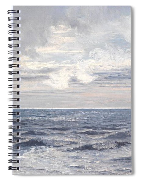Silver Sea Spiral Notebook