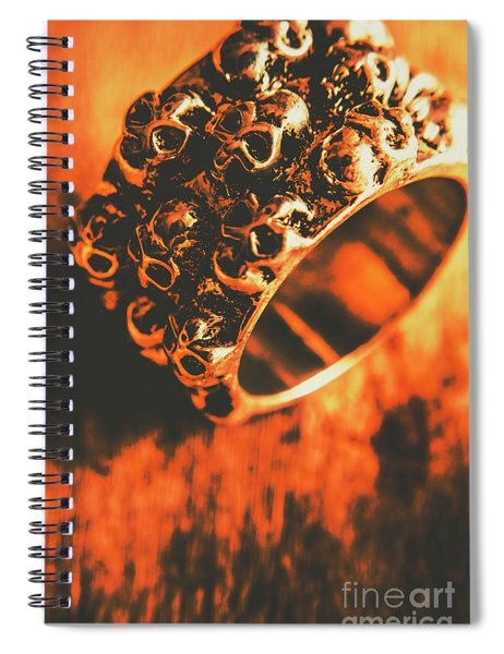 Silver Skulls Pirate Ring Spiral Notebook