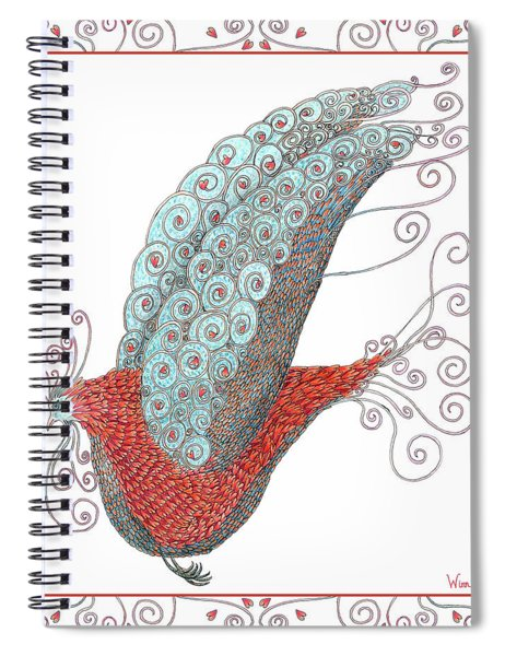 Simon Lovey The Exotic Bird With Border Spiral Notebook