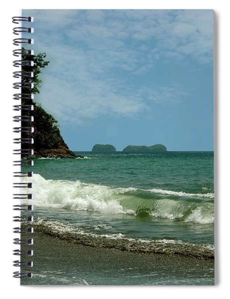 Simple Costa Rica Beach Spiral Notebook