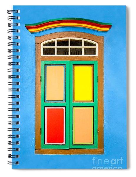 Singapore Blue Window Spiral Notebook