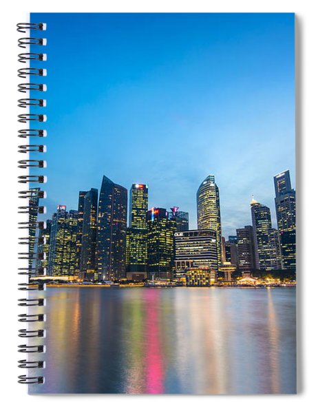 Singapore By Night Spiral Notebook