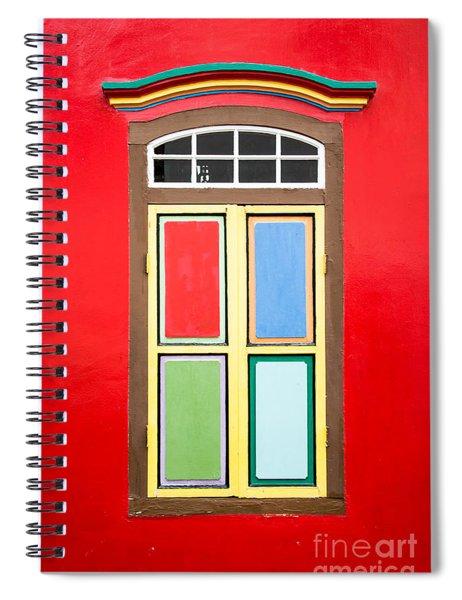 Singapore Red Window Spiral Notebook