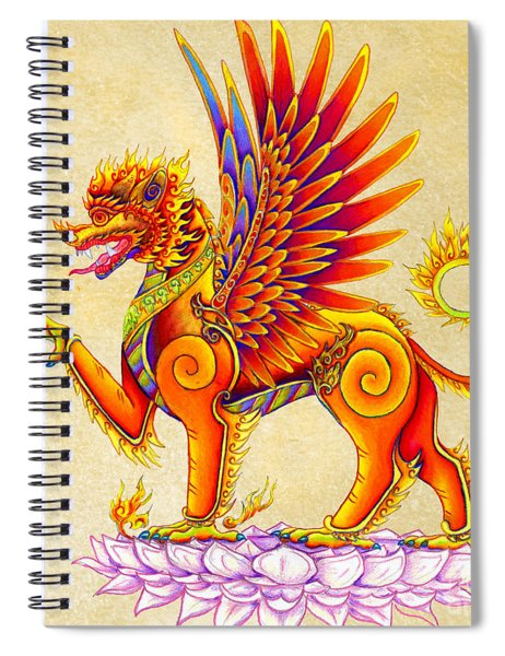 Singha Winged Lion Spiral Notebook