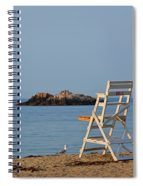 Singing Beach Lifeguard Chair Manchester By The Sea Ma Spiral Notebook