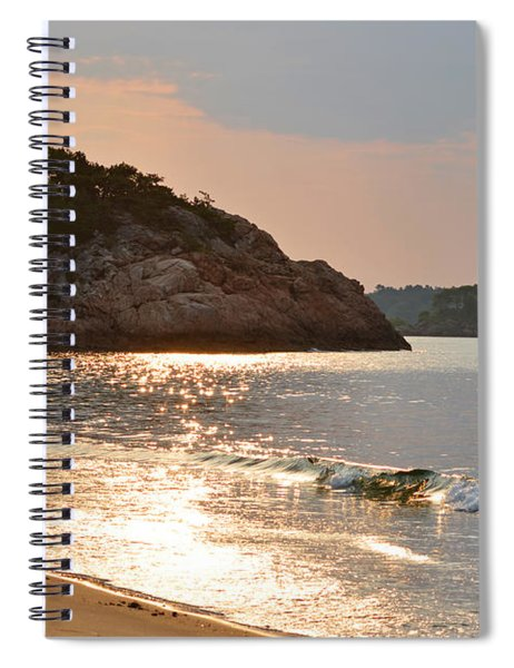 Singing Beach Silver Waves Manchester By The Sea Ma Spiral Notebook
