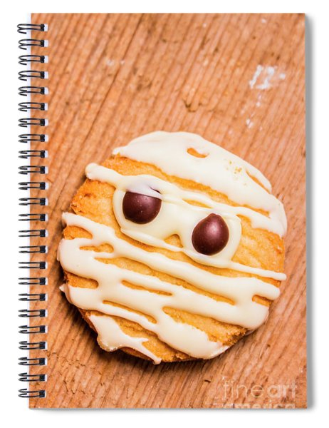 Single Homemade Mummy Cookie For Halloween Spiral Notebook