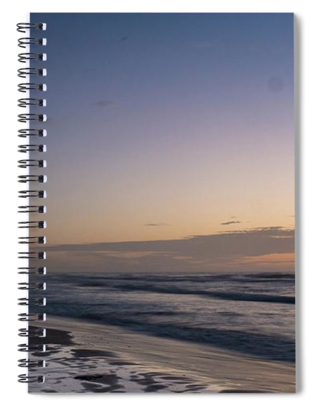 Single Man Walking On Beach With Sunset In The Background Spiral Notebook