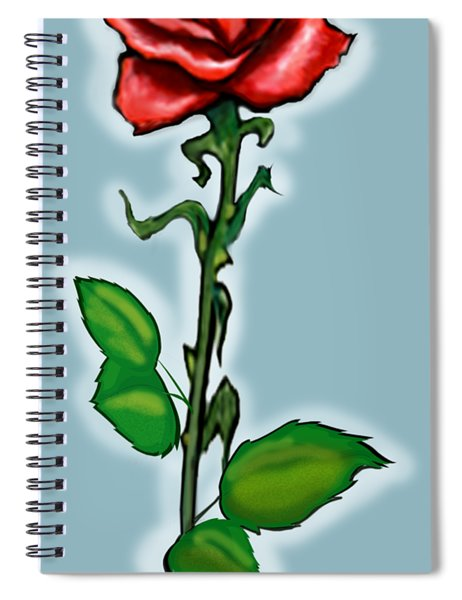 Single Red Rose Spiral Notebook