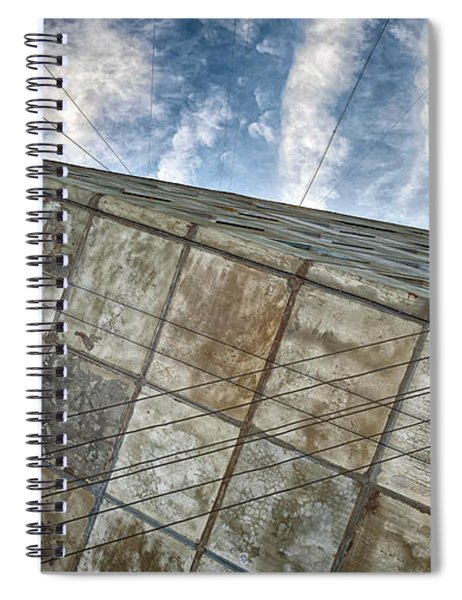 Sinking Building Sky Of Dread Spiral Notebook
