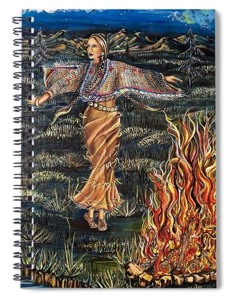 Sioux Woman Dancing Spiral Notebook