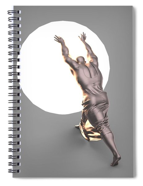 Sisyphus Lamp 04 Spiral Notebook