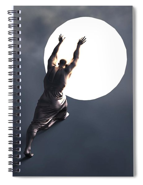 Sisyphus Lamp 05 Spiral Notebook