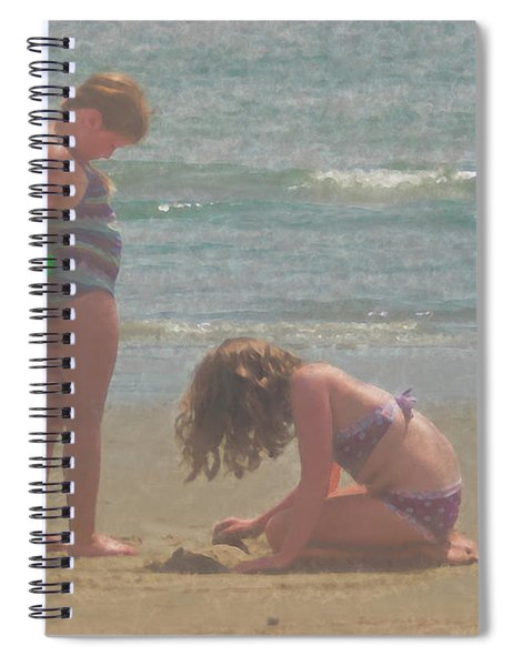 Sisters In The Sand Spiral Notebook