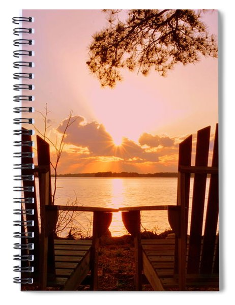 Sit Down And Relax Spiral Notebook