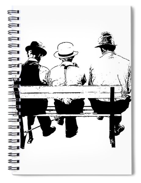 Sitting On A Park Bench Spiral Notebook