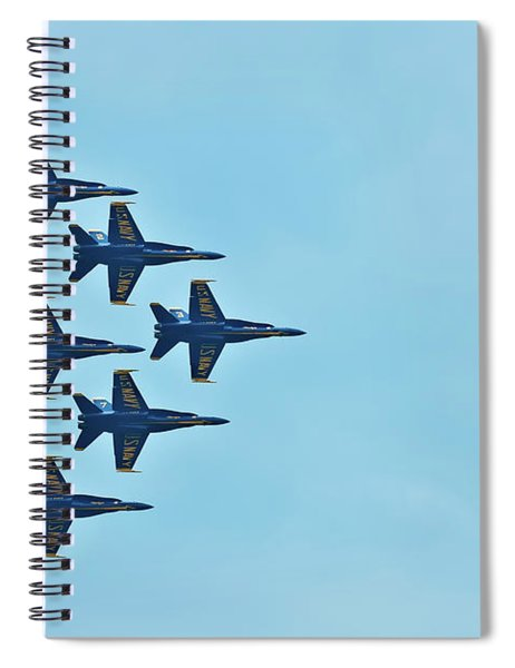 Six Blue Angels In The Clear Blue Sky Spiral Notebook