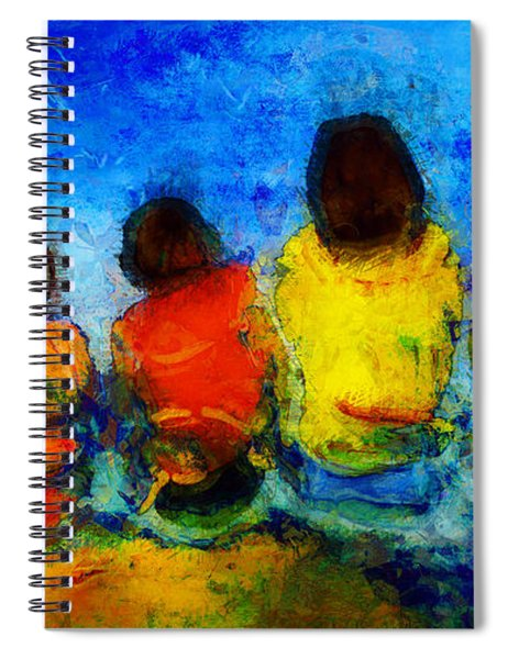 Six On The Shore  Spiral Notebook