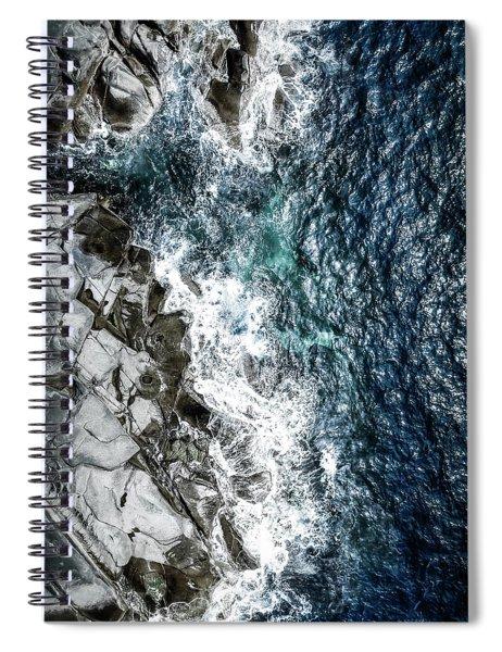 Skagerrak Coastline - Aerial Photography Spiral Notebook