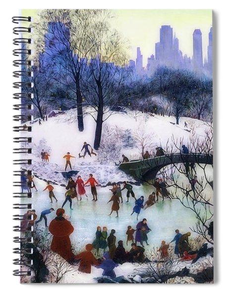 Skating In Central Park Spiral Notebook