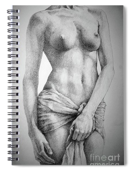 Sketchbook Page 35 The Female Pencil Drawing Spiral Notebook